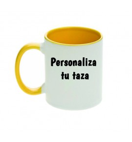 Tazas con interior y asa de color PERSONALIZABLE