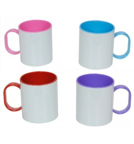 Tazas con interior y asas de color PERSONALIZABLE
